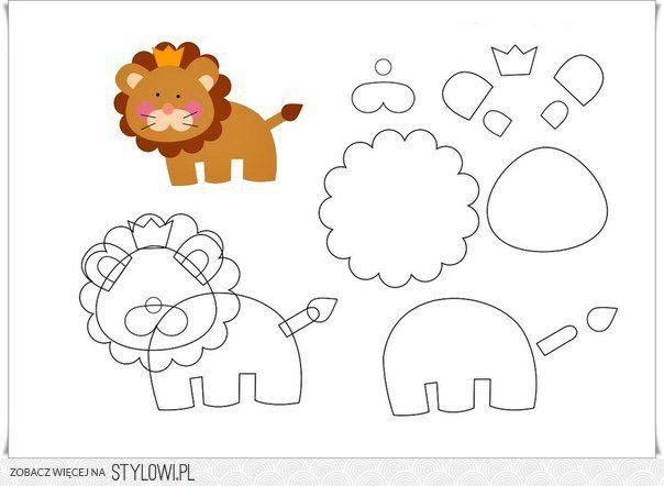 Do Uszycia Felt Animal Patterns Stuffed Animal Patterns Felt Pattern