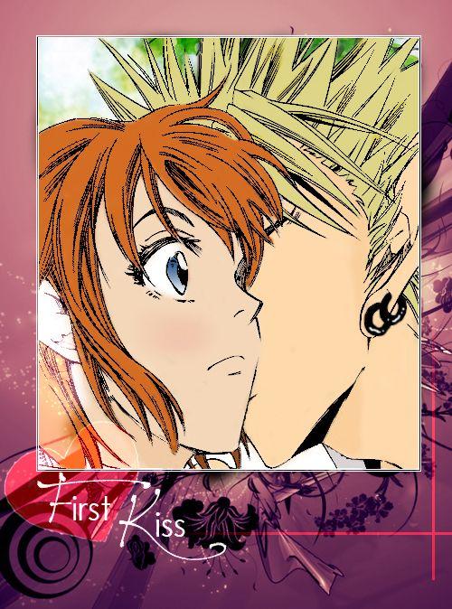 Hiruma Mamori The First Kiss by nstl