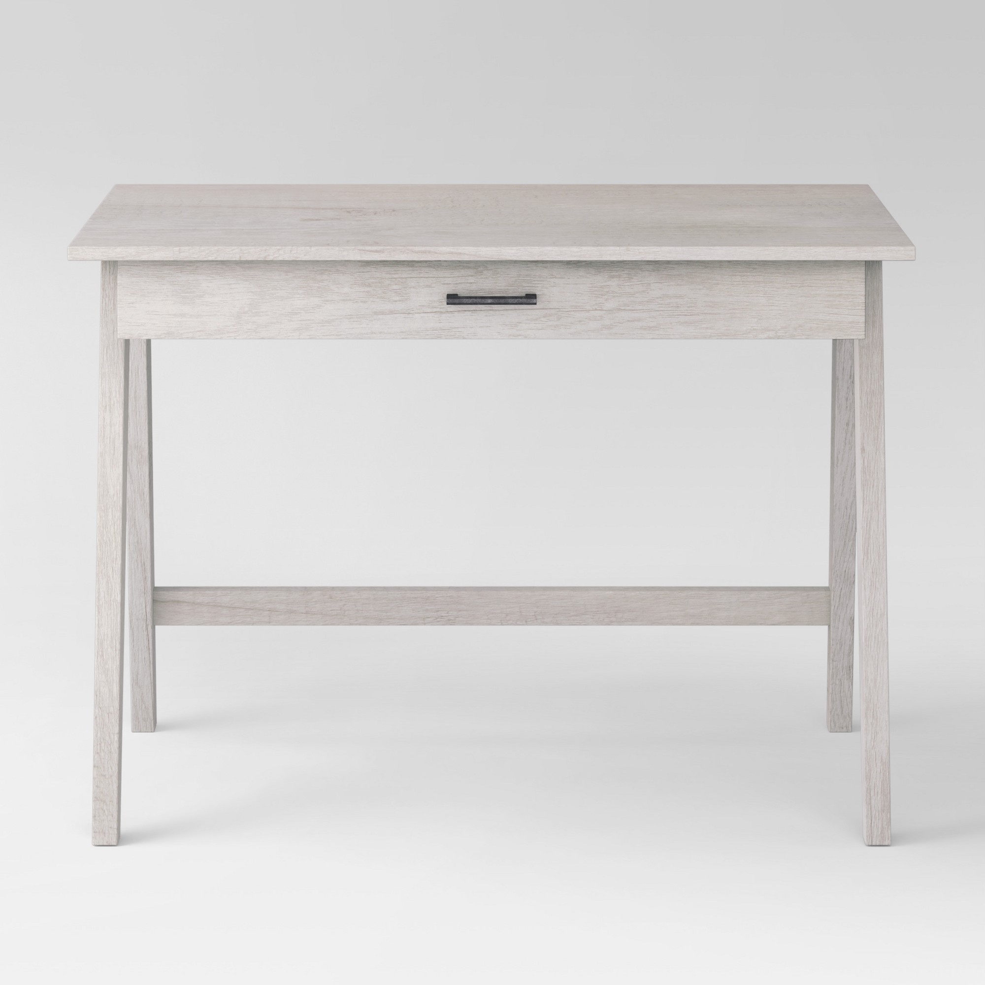 Paulo Basic Desk White Wash Project 62 in 2020 White