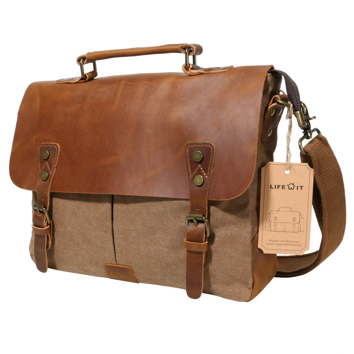 Natural Mens and Womens Computer Bags Handbags Shoulder Bags Briefcases Suitable for 15 Inch Computers