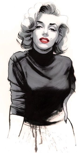 Marilyn Monroe Unique Tattoo Icon Giant Art Picture Print Wall Poster Print