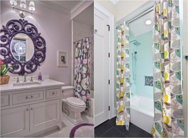 rideau de douche pour une petite salle de bains 30 id es deco salle de bain salle et. Black Bedroom Furniture Sets. Home Design Ideas