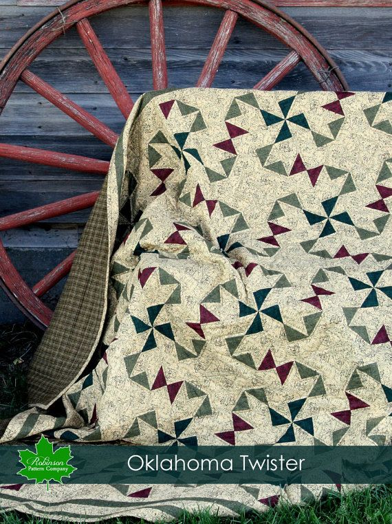 Oklahoma Twister Quilt Pattern Pdf Instant Download Pattern Of A