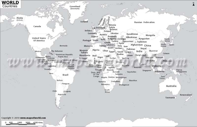 Black and white world map with country names crafts pinterest black and white world map with country names gumiabroncs Images