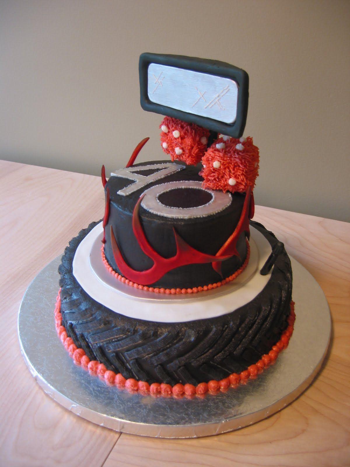 40th Birthday Cake Decorating Idea With Car Theme
