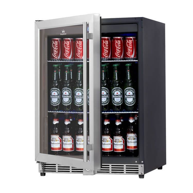 Keep Your Drinks Ice Cold With Our 24 Beverage Fridge A Glass Door And