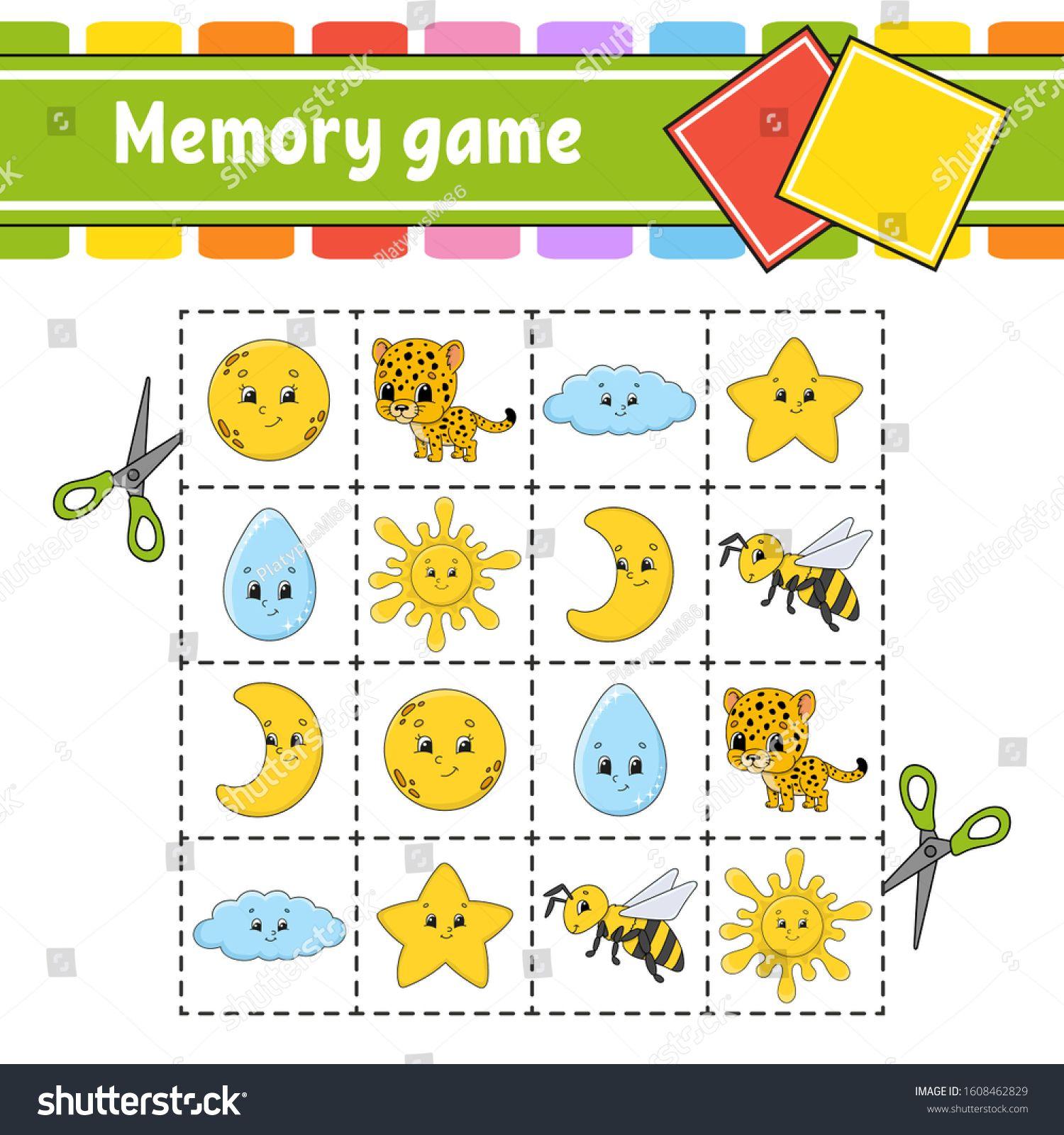 Memory Game For Kids Education Developing Worksheet