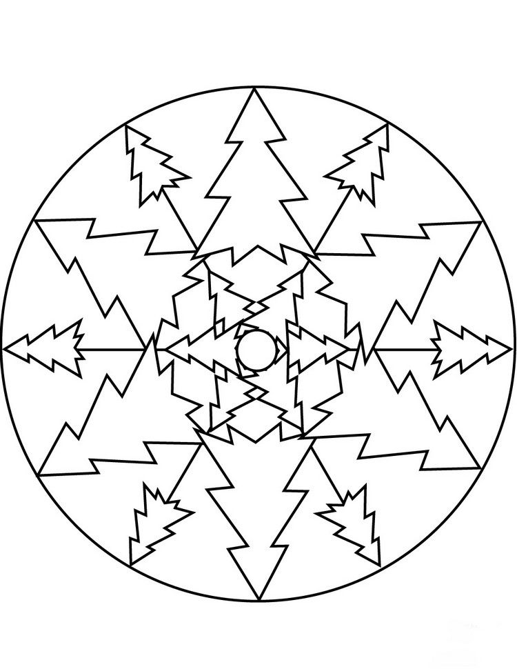 mandala weihnachten tannenbäume geometrisch abstrakt #christmas #diy ...
