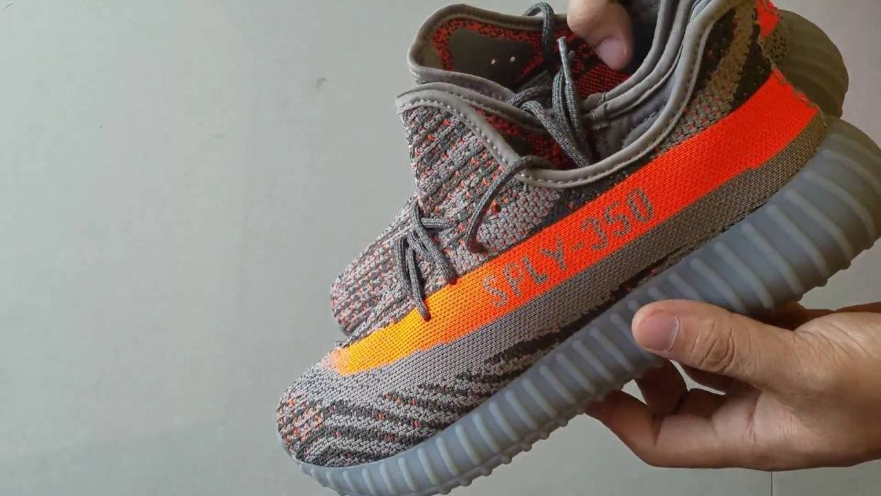 7659307ab Classic Yeezy Boost 350 V2 Beluga SPLY-350 Grey Orange Unboxing   Review.