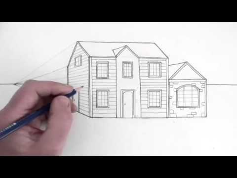 Comment dessiner une maison en perspective dessin Pinterest - comment dessiner une maison en 3d