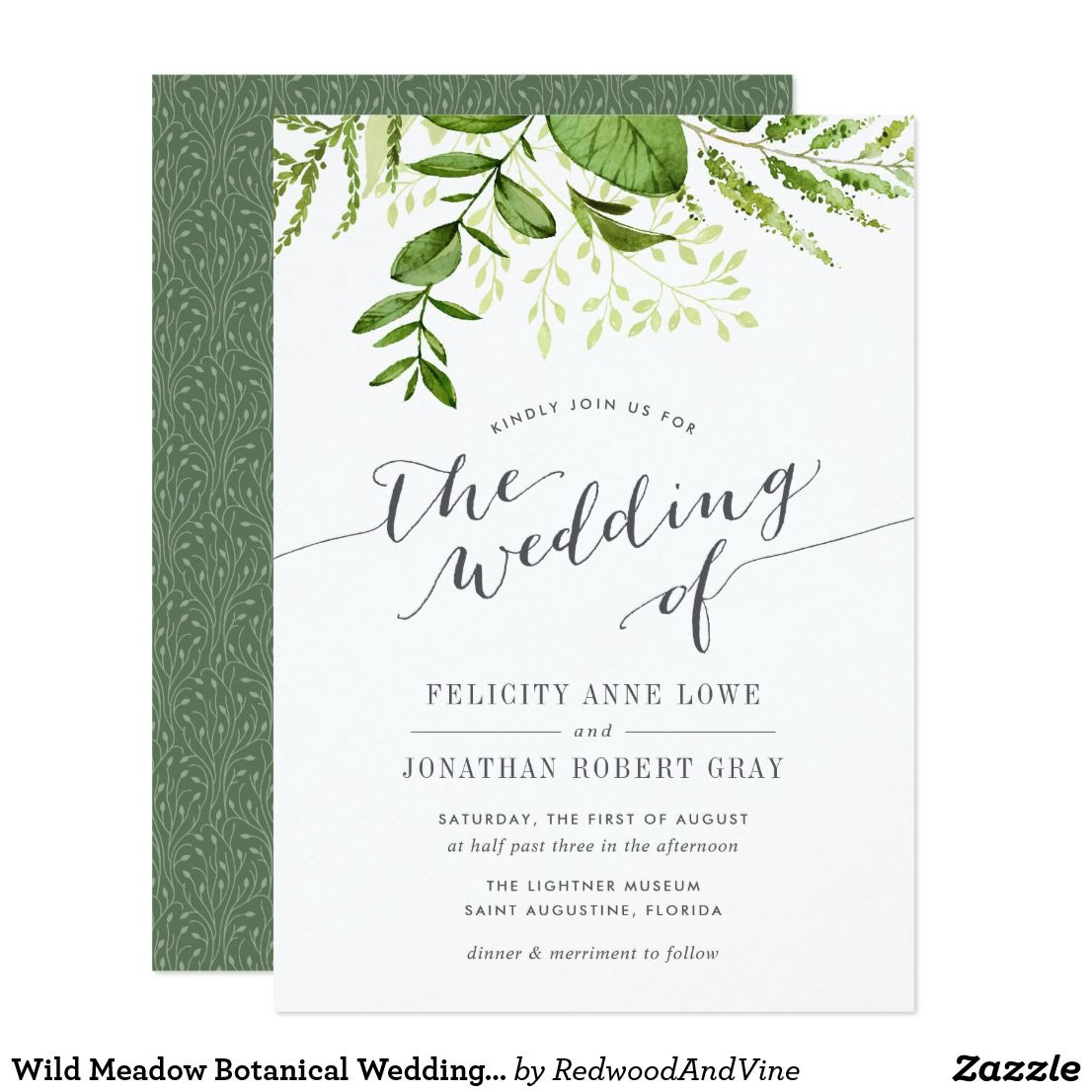 Wild Meadow Botanical Wedding Invitation | The-Elegant-Wedding ...