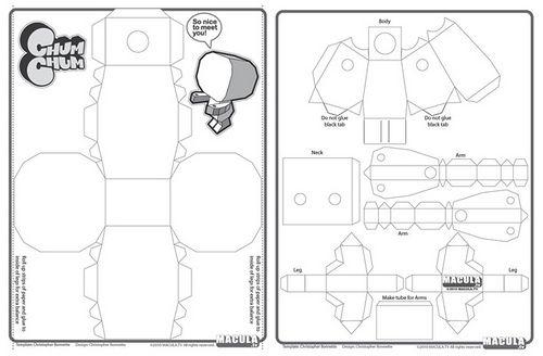 blank papercraft box template