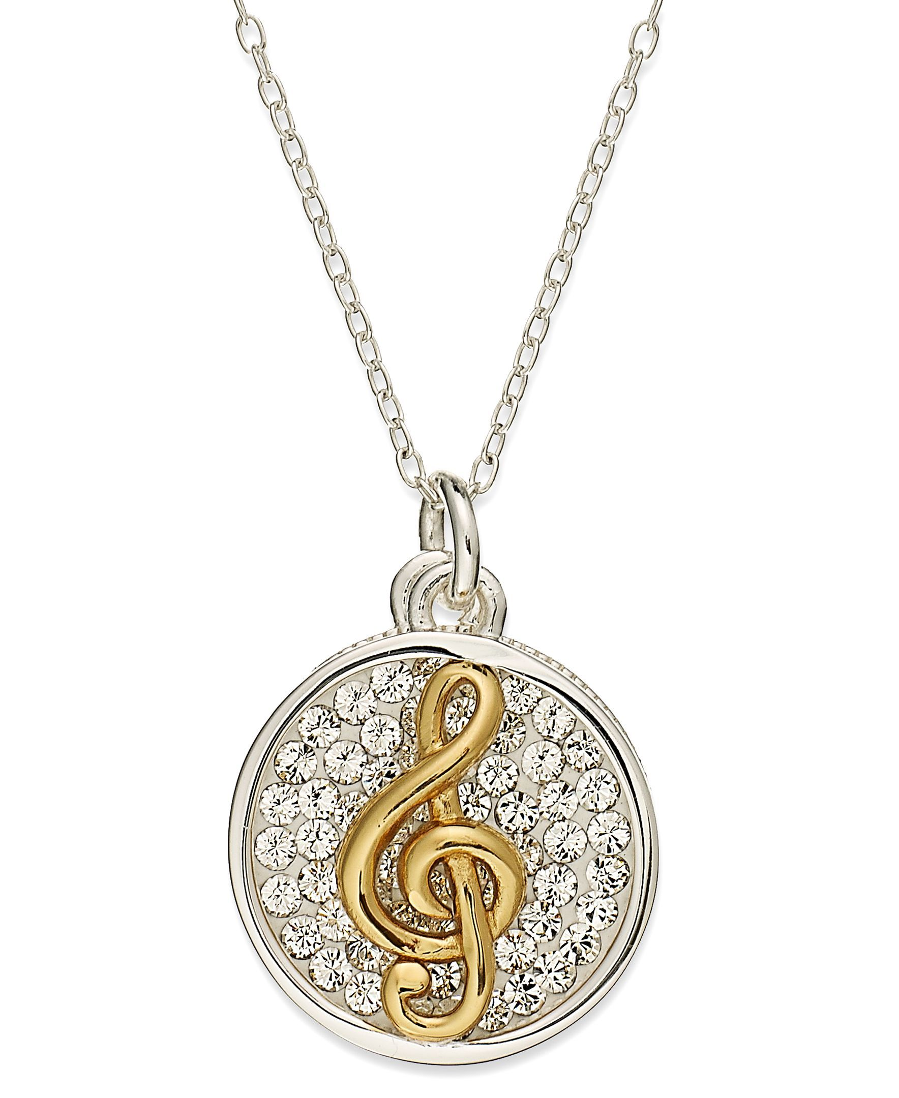 Inspirational 14k gold over sterling silver and sterling silver inspirational 14k gold over sterling silver and sterling silver necklace crystal treble clef inspirational pendant aloadofball Choice Image