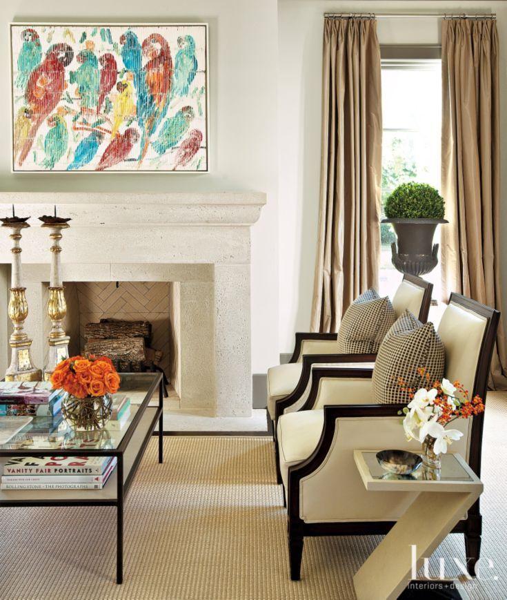 Modern Interior Design Magazine: Neutral French-Revival Traditional Living Room Detail