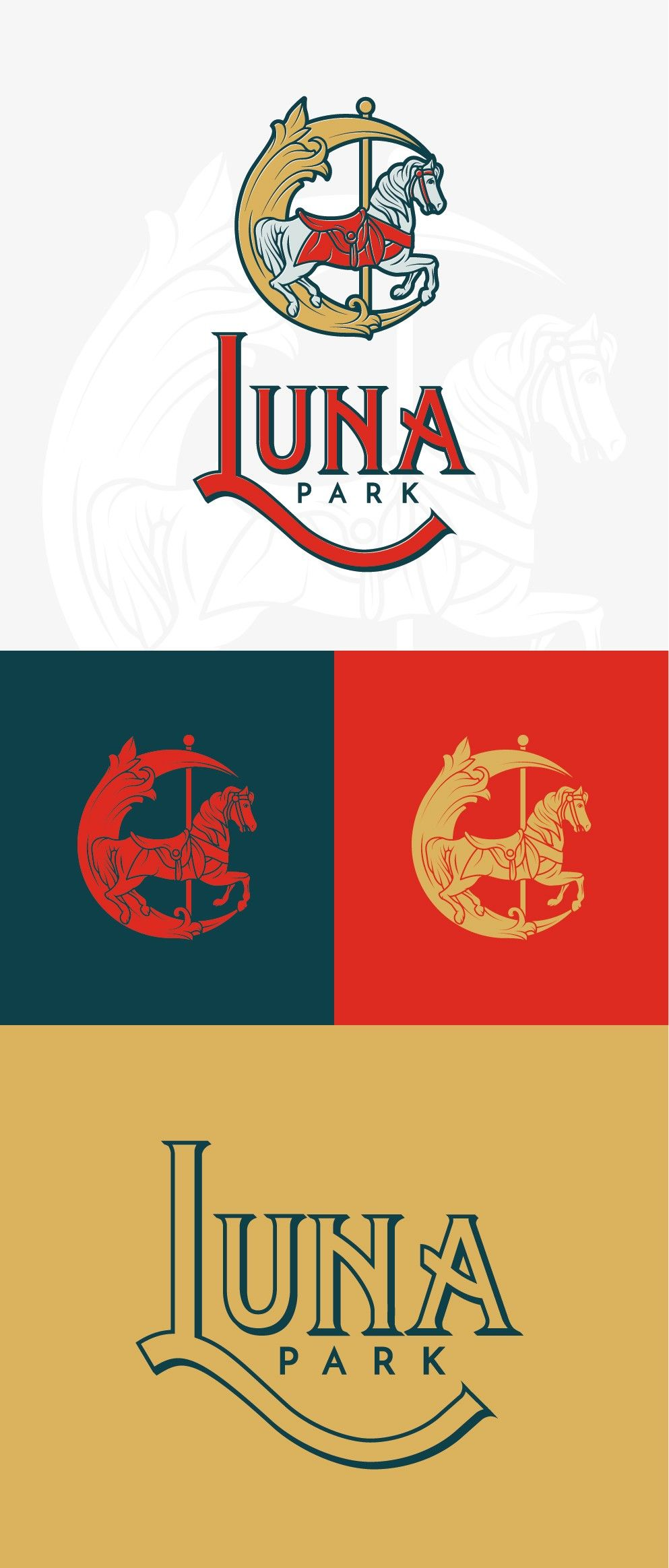 1900s Style Logo Design By Iyank Iyo For Luna Park Neighborhood Association In San Jose This Vintage Styl Association Logo Design Logo Design Logo Design Love
