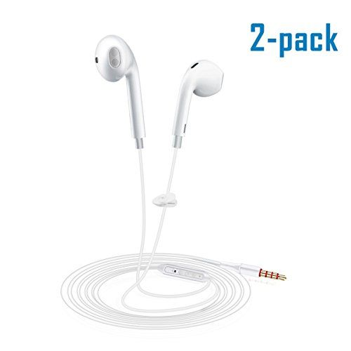 [2Pack] iPhone Wire Headphones with Mic and Remote Control