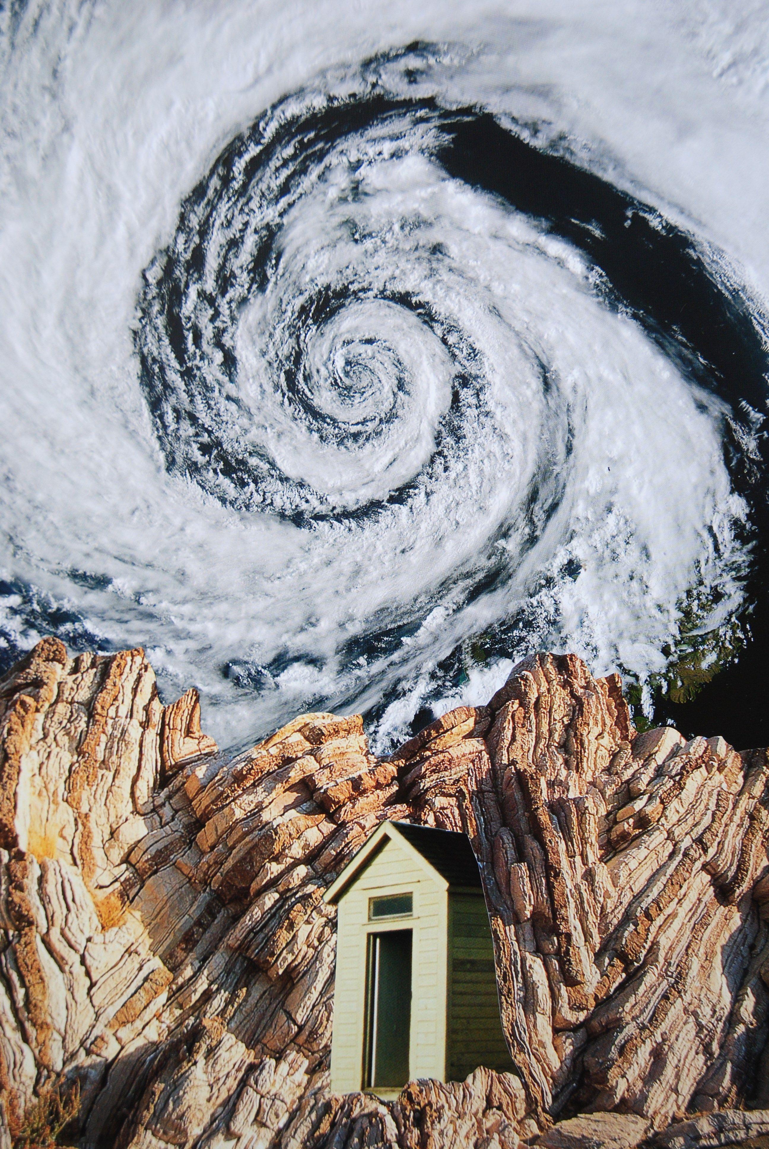 Hurricane House John Turck Collage Collage Art Art Original Collage