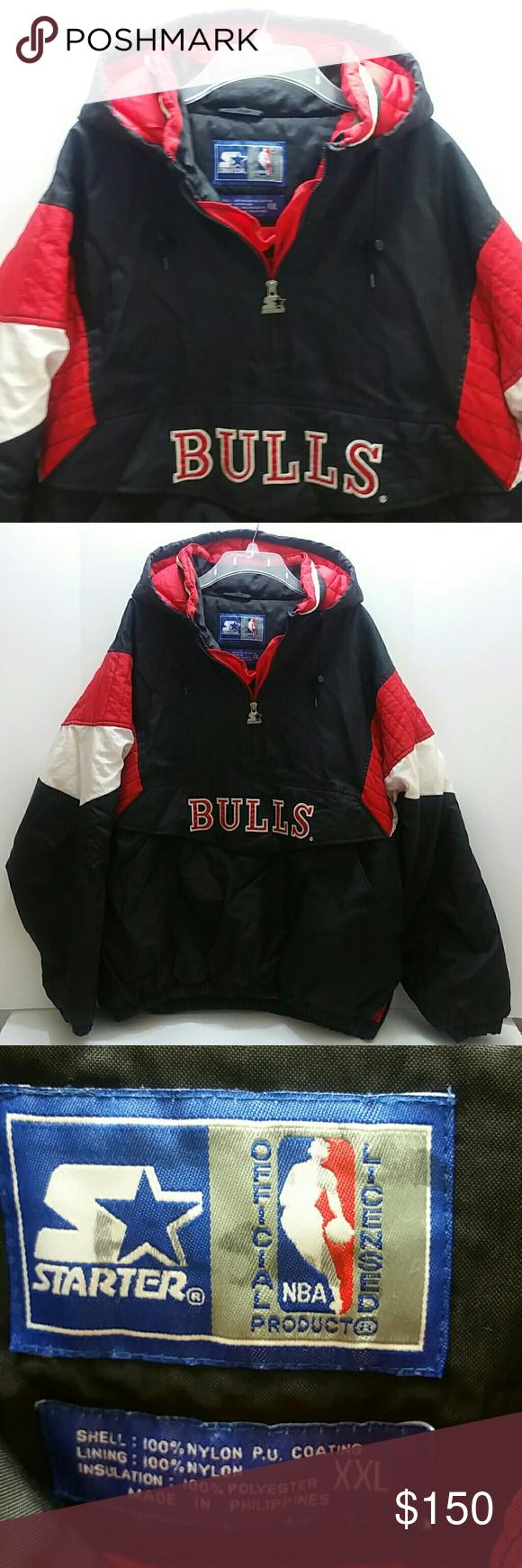 Starter Vintage Chicago Bulls Puffer Jacket Jackets Puffer Jackets Clothes Design