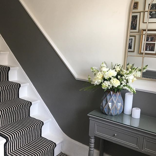 This Type Of Stripe On A Dark Grey Painted Stairs