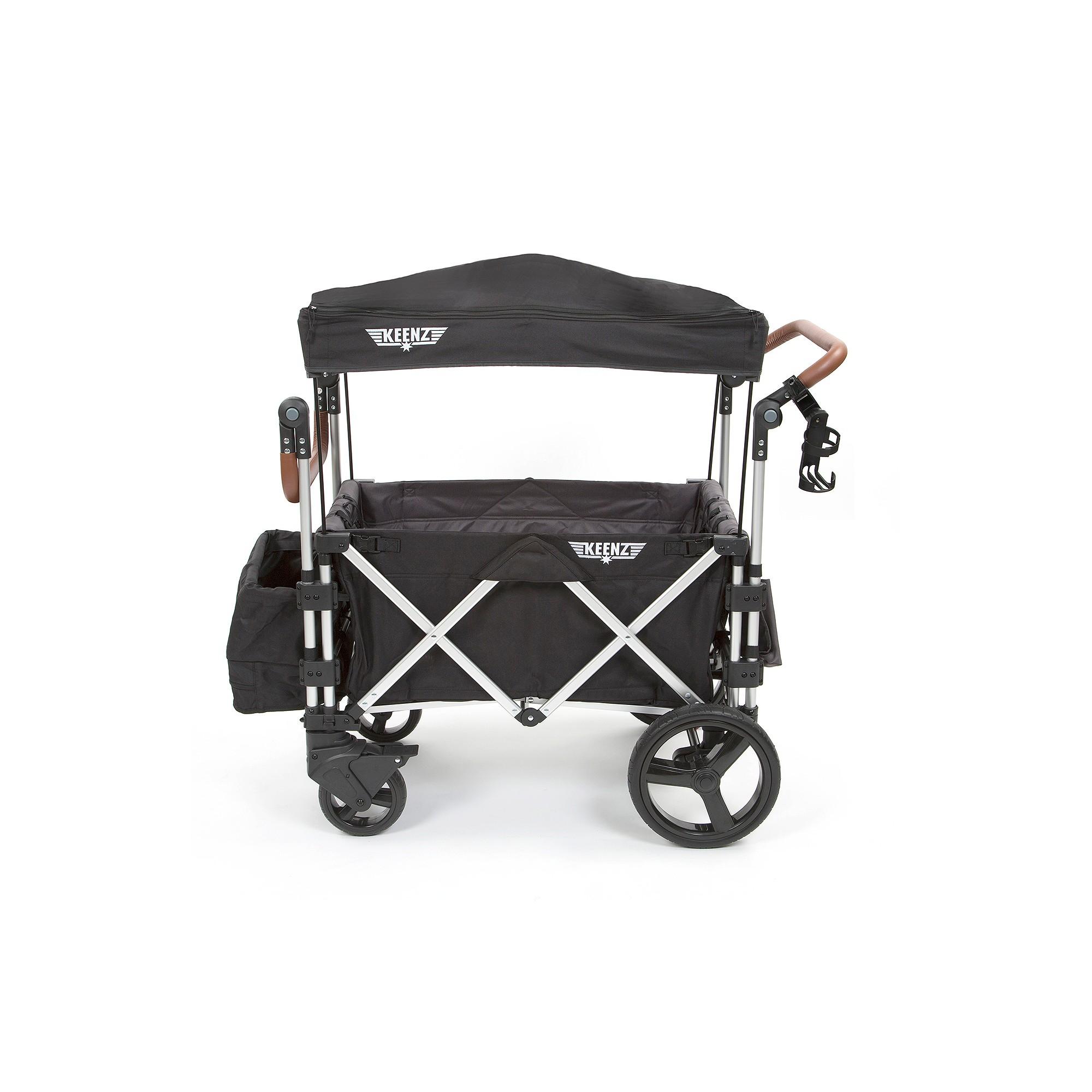 Keenz 7s Double Stroller Wagon Black Gyerek