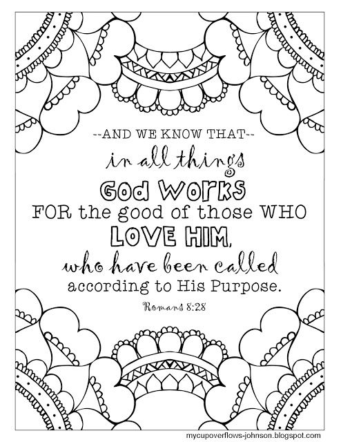 God Works For Our Good Bible Coloring Pages Bible Doodling