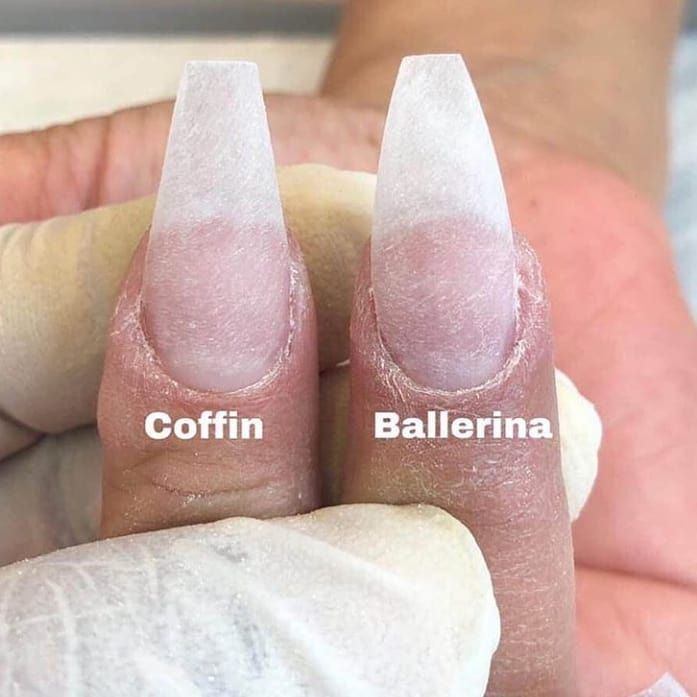 "Nails.com's Instagram profile post: ""Coffin or ballerina? Tough choice� . . @nails.c0m . . . . Dm if you know the source �"""