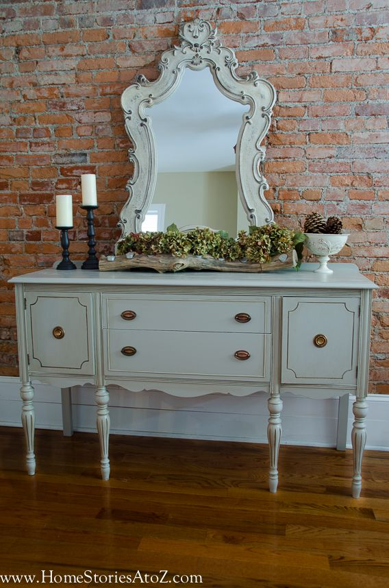 How To Paint A Vintage Buffet Vintage Buffet Furniture Makeover Diy Furniture