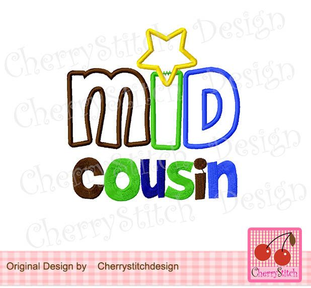Mid Cousin For Boys Digital Embroidery