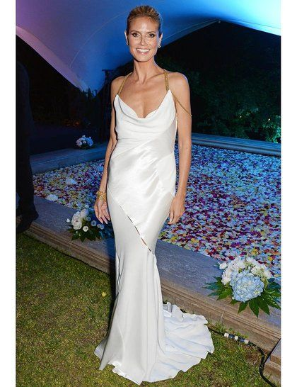Heidi Klum Wears Versace To The Welcome Party Far Puerto Azul Experience Night During 67th Annual Cannes Film Festival
