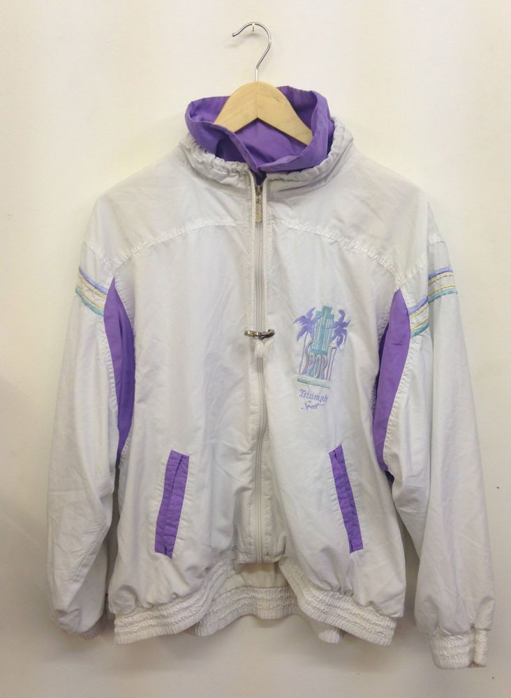 VINTAGE 80'S / 90'S CRAZY TRACKSUIT RETRO WINDBREAKER SHELL SUIT JACKET  IBIZA