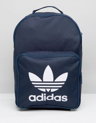 82b6d08006c3 adidas Originals Trefoil Logo Backpack In Navy