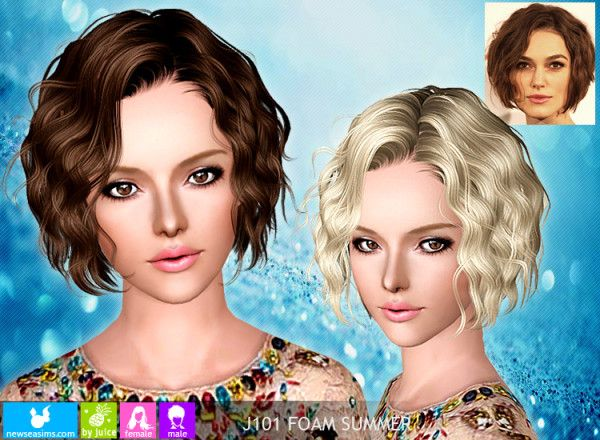 Curly Bob Hairstyle 116 Naima By Newsea For Sims 3 Curly Bob Hairstyles Bob Hairstyles Curly Bob