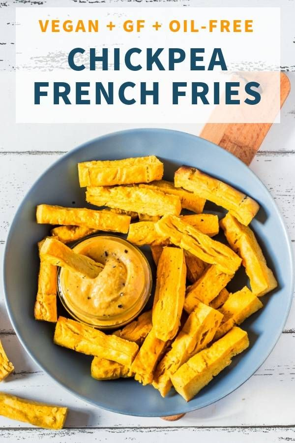 Baked Chickpea French Fries Vegan Gluten Free