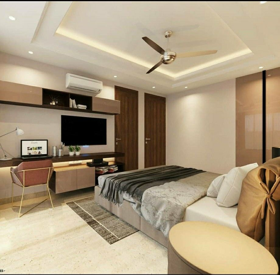 Ceiling Study Table Bed Design In 2020 Interior Design Interior Designers In Delhi Residential Interior Design