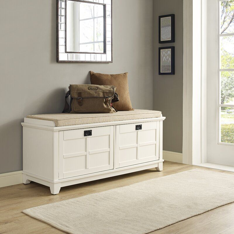 Lexie Cabinet Storage Bench In 2020 Entryway Bench Storage Storage Bench White Bench Entryway