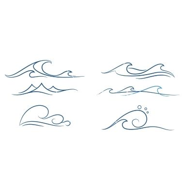 Simple+waves+set+vector+on+VectorStock | Tattoos, Small ...Waves Drawing Tattoo