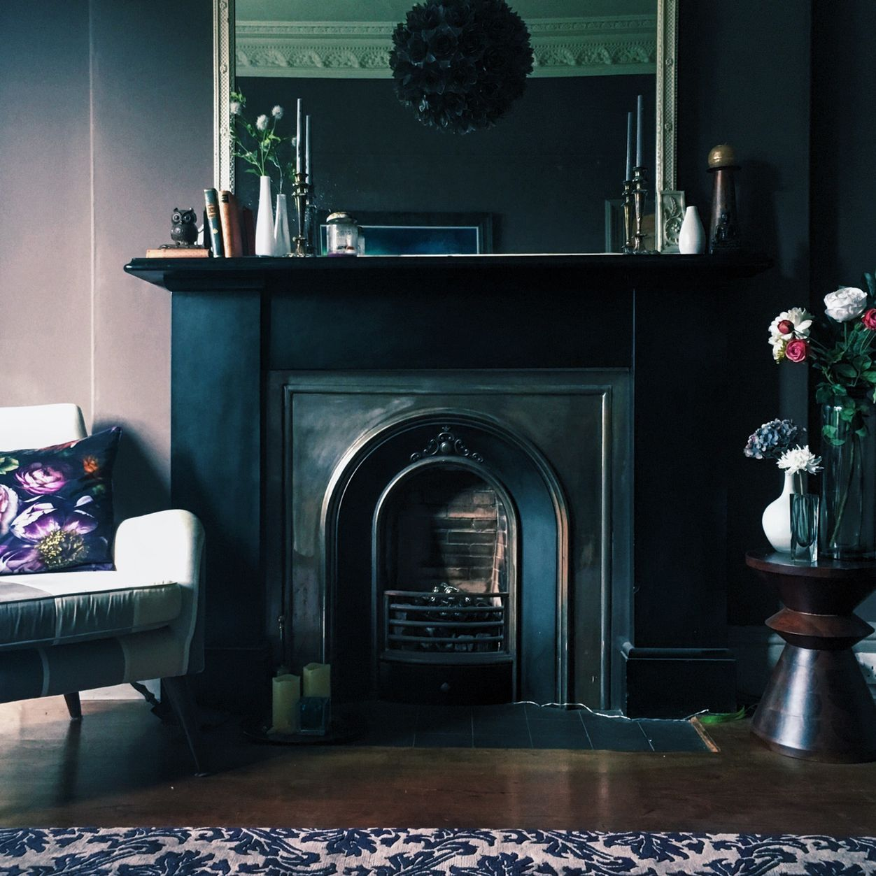 Living Room Victorian Fireplace By At Fiona Cameron At Mine Victorian Fireplace Victorian House Interiors Dark Living Room Decor
