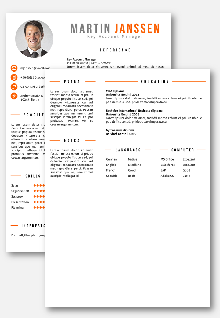 Cv Template Berlin  Cv Template And Template