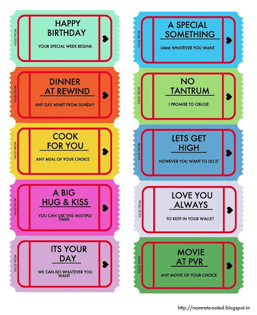 Freebie: Birthday Vouchers
