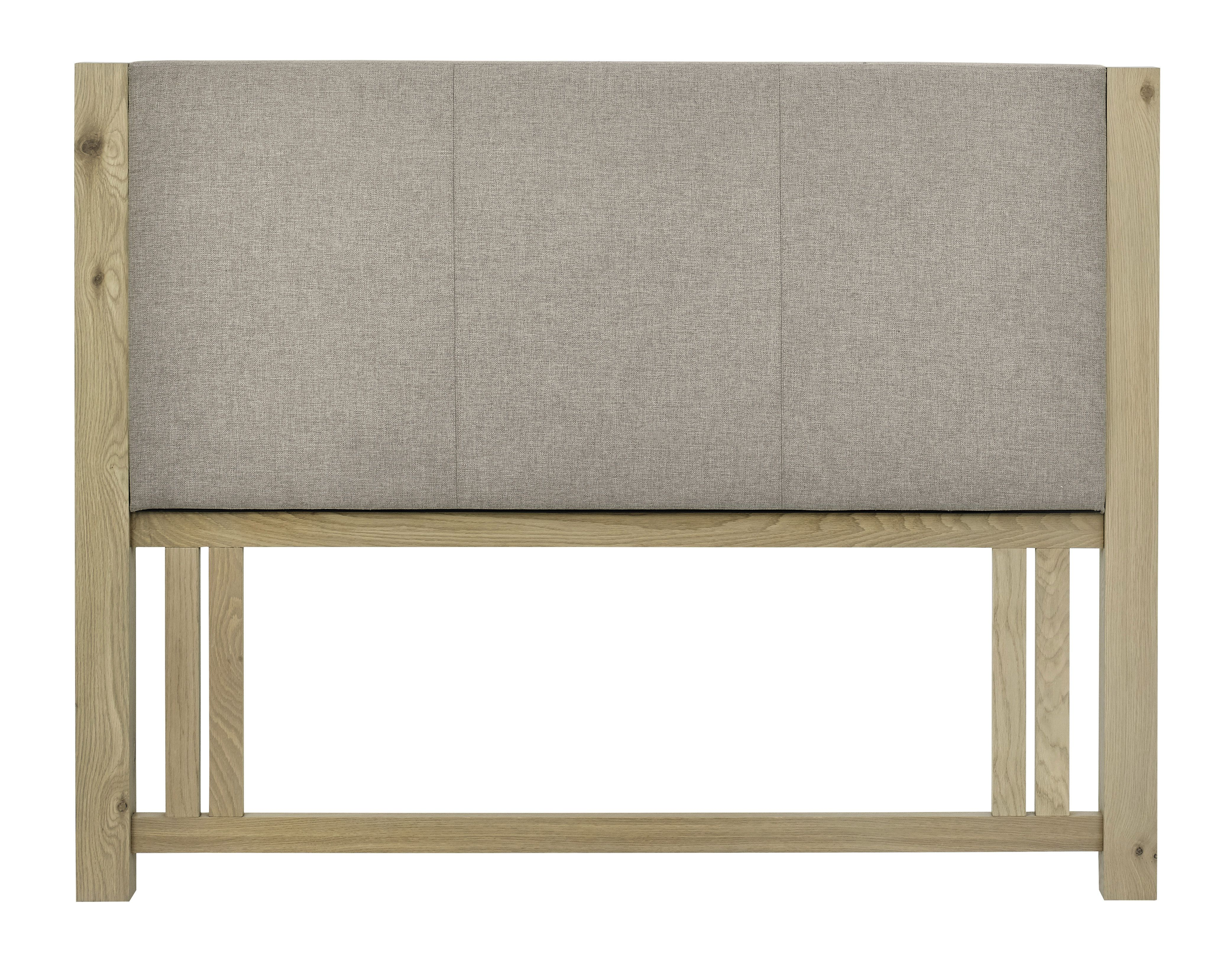 Turin aged oak double upholstered headboard contemporary and stylish