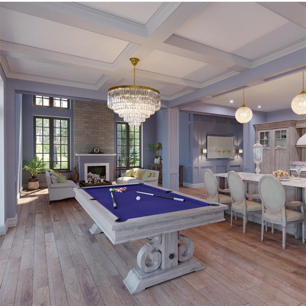 The 8 Barnstable Pool Table By Imperial In Silver Mist
