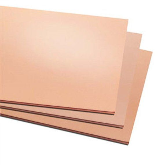 6 X 6 Copper Sheet Metal Blanks Stamping Choice Of Gauge Supplies Findings Metal Work Copper Sheets
