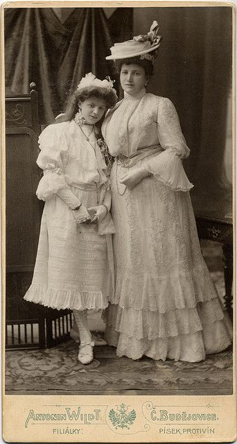 Cabinet card circa 1905.  - Lovely!  They look like Mother & daughter, you can see their affection for each other.