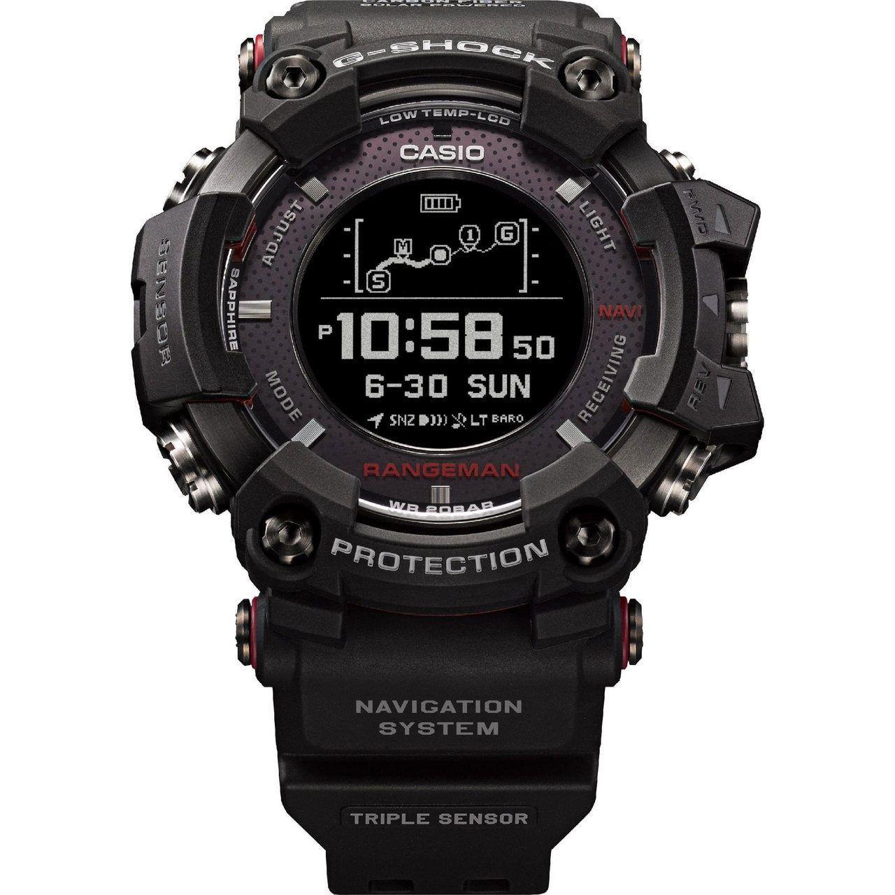 G Shock Gpr B1000 Rangeman Solar Gps Navigation Black G Shock Watches Mens Casio Watch G Shock