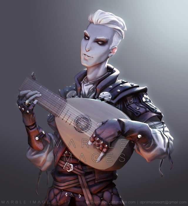 Changeling Bard Commission Character Portraits Dungeons And