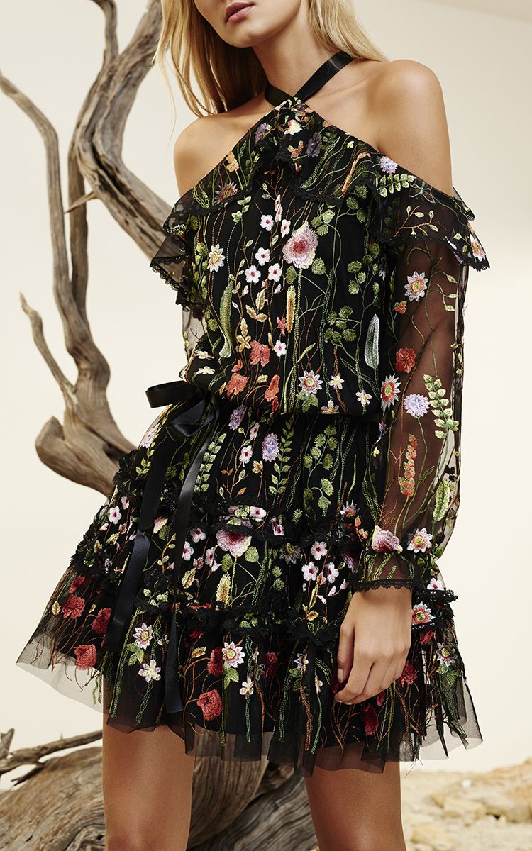 Adeline Floral Embroidered Dress by ALEXIS for Preorder on Moda Operandi