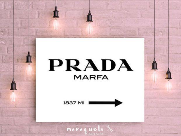 Prada Marfa Inspired Wall Art Poster Prada Marfa Sign Like In Gossip Girl Marfa From Ny Distance Fashion Prada Marfa Prada Marfa Gossip Girl Poster Wall Art