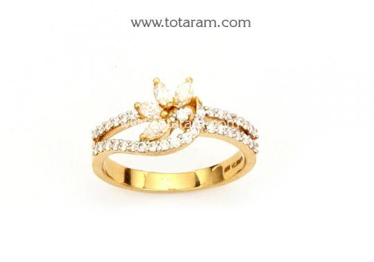 Diamond Ring for Women in 18K Gold Totaram Jewelers Buy Indian