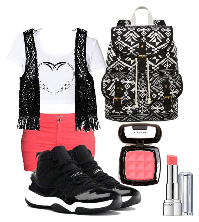Twin 2 Hanging w/ Friends by ericambrown on Polyvore featuring polyvore, fashion, style, Boohoo, H&M, SM New York, NYX, NIKE and Revlon