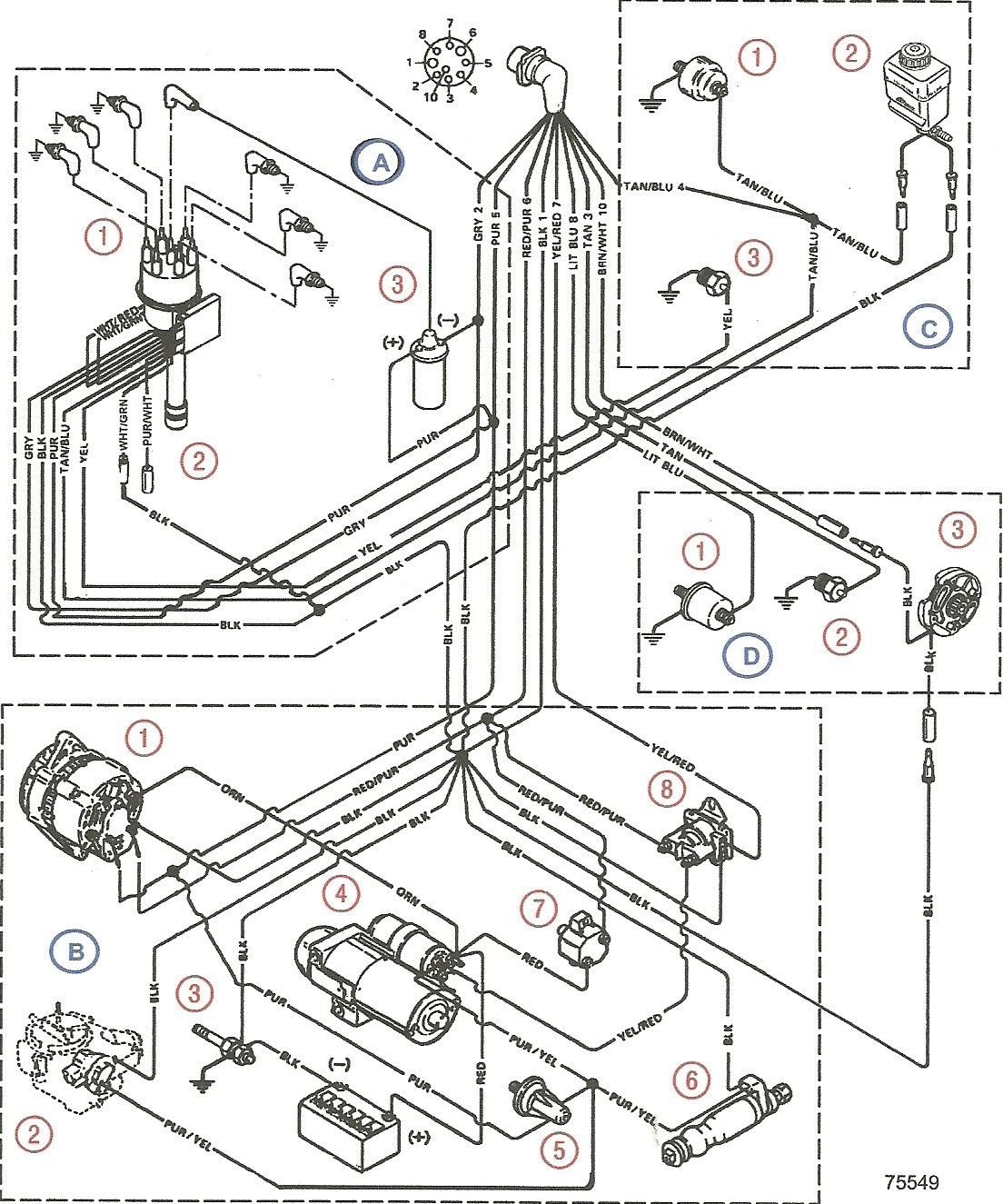 mercruiser 5.7 wiring diagram | lancha  pinterest